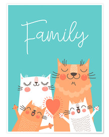 Premium poster  Family cats - Kidz Collection