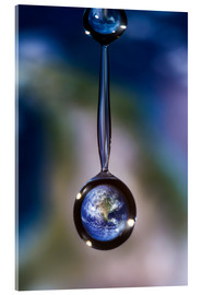 Acrylic print  World locked in the waterdrop - Jaroslaw Blaminsky