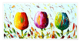 Premium poster Tulips light