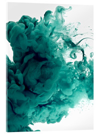 Acrylic print  Acrylic colors in water
