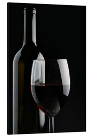 Aluminium print  Good red wine