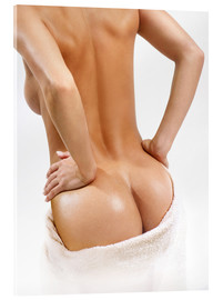 Female back with a towel