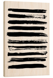 Wood print  Black Stripes