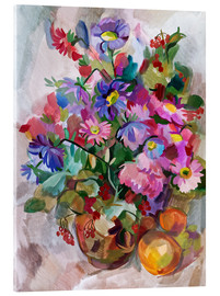 Acrylic glass  Floral Still Life