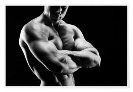 Premium poster  Bodybuilder with arms crossed