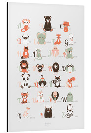 Aluminium print  abc animals   english - Kanzilue