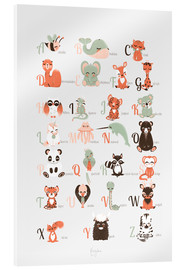 Acrylic print  ABC animals (French) - Kanzilue