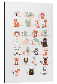Aluminium print  ABC animals (French) - Kanzilue