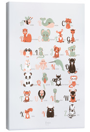 Canvas print  ABC animals (French) - Kanzi Lue