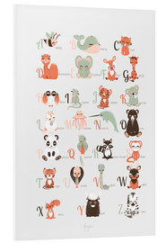 Foam board print  ABC animals (French) - Kanzilue