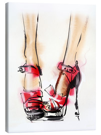 Canvas  Red High Heels