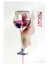 Acrylic glass  Glass of Merlot