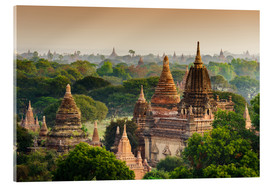 Acrylic print  Temples of Bagan in Mandalay, Myanmar