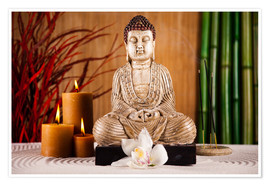 Premium poster  Buddha with candle