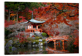 Acrylic glass  Daigoji Temple in Kyoto in autumn