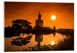 Acrylic print  Shinto statue in sunset