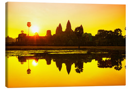 Canvas print  Angkor Wat sunrise at Cambodia