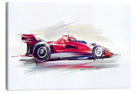 Canvas print  Red Race Car