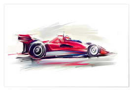 Premium poster  Red Race Car