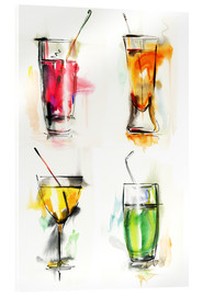 Acrylic print  Colourful Drinks