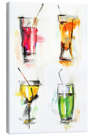 Canvas  Colorful drinks