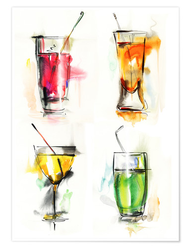 Premium poster Colourful Drinks