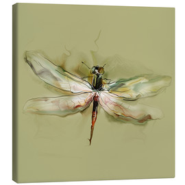 Canvas print  Dragonfly in watercolor