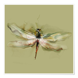 Premium poster  Dragonfly in watercolor