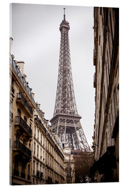 Acrylic print  Eiffel Tower on a rainy day, Paris