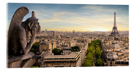 Acrylic print  View over Paris from Notre Dame