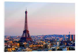 Acrylic print  Eiffel Tower in the evening, Paris