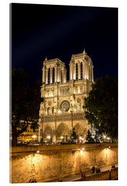 Acrylic print  Notre Dame by night, Paris