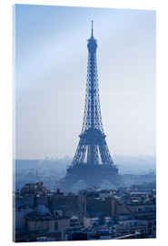 Acrylic print  Eiffel Tower on blue spring morning