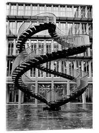Acrylic print  Endless steel stairway in Munich