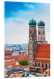 Acrylic print  Towers of Frauenkirche in Munich