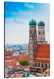Aluminium print  Towers of Frauenkirche in Munich