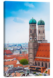 Canvas print  Towers of Frauenkirche in Munich