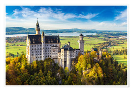 Premium poster  Neuschwanstein castle in summer