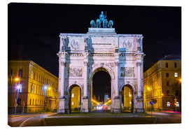 Canvas print  Triumphal arch (Siegestor) in Munich
