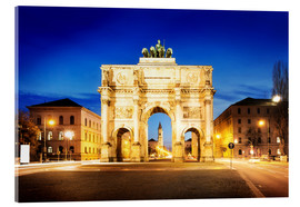 Acrylic glass  Victory Arch in Munich at night