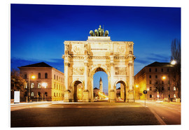 Forex  Victory Arch in Munich at night