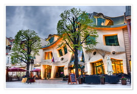 Premium poster  Crooked house in Sopot
