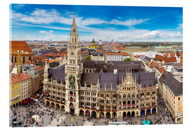 Acrylic print  Town hall of Munich