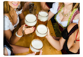 Canvas print  Bavarian girls in Dirndl dresses at the Oktoberfest