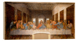 Wood print  The Last Supper - Leonardo da Vinci