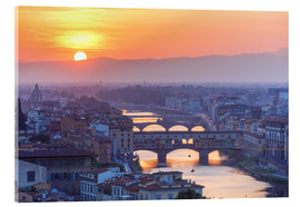Acrylic print  Florence at sunset