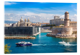 Acrylic print  Old port in Marseille