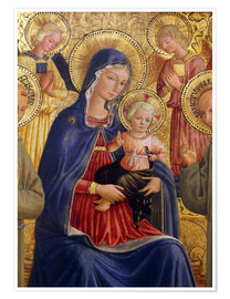 Premium poster  Madonna and Child with St. Francis and Bernardine - Bartolomeo Caporali