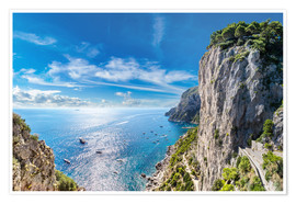 Premium poster  Cliff on Capri island