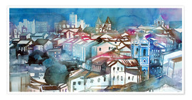 Premium poster  Brazil, Salvador Bahia, views of Igreja e Convento do Carmo - Johann Pickl